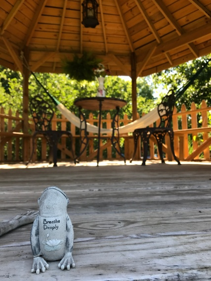 Just breathe....in the gazebo